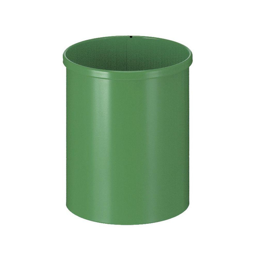 Ronde papierbak 15 ltr - groen