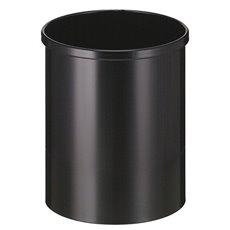 Ronde papierbak 15 ltr - zwart