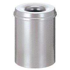 Vlamdovende papierbak 15 ltr - zilver