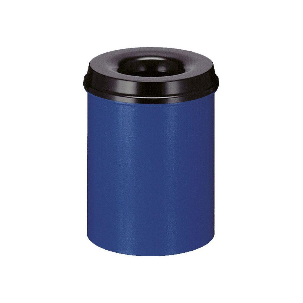Vlamdovende papierbak 15 ltr - blauw/zwart