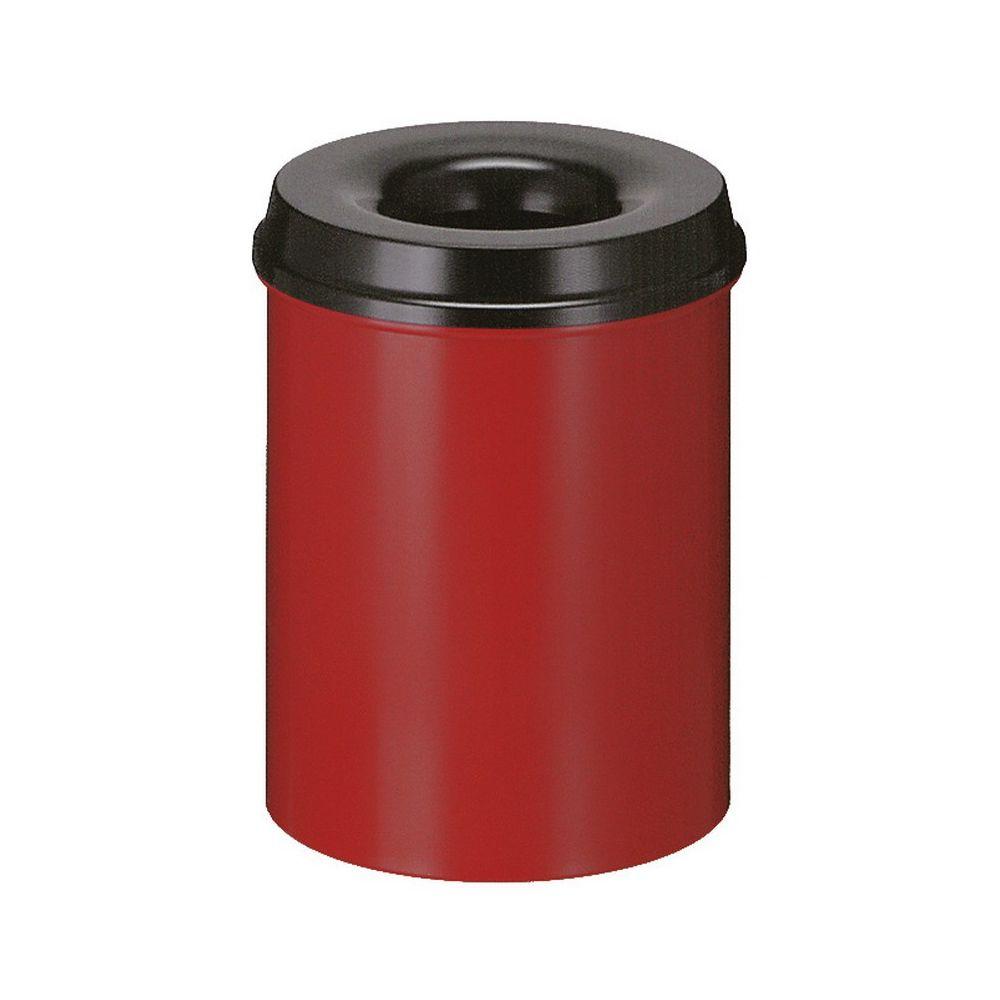 Vlamdovende papierbak 15 ltr - rood/zwart