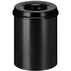 Vlamdovende papierbak 15 ltr - zwart
