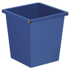 Vierkant tapse papierbak - blauw