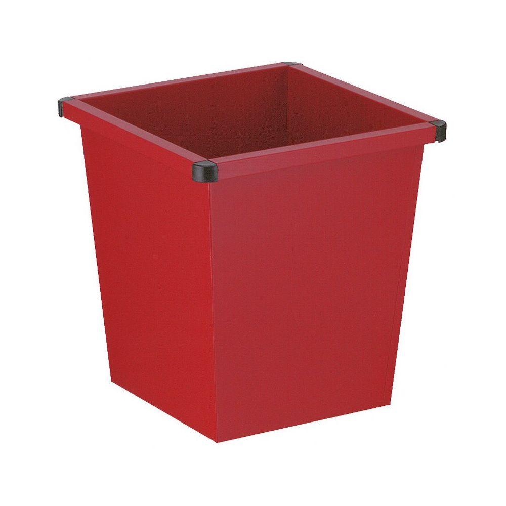 Vierkant tapse papierbak - rood