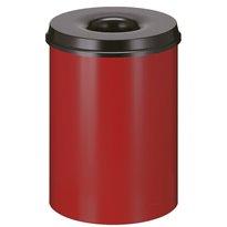 Vlamdovende papierbak 30 ltr - rood/zwart