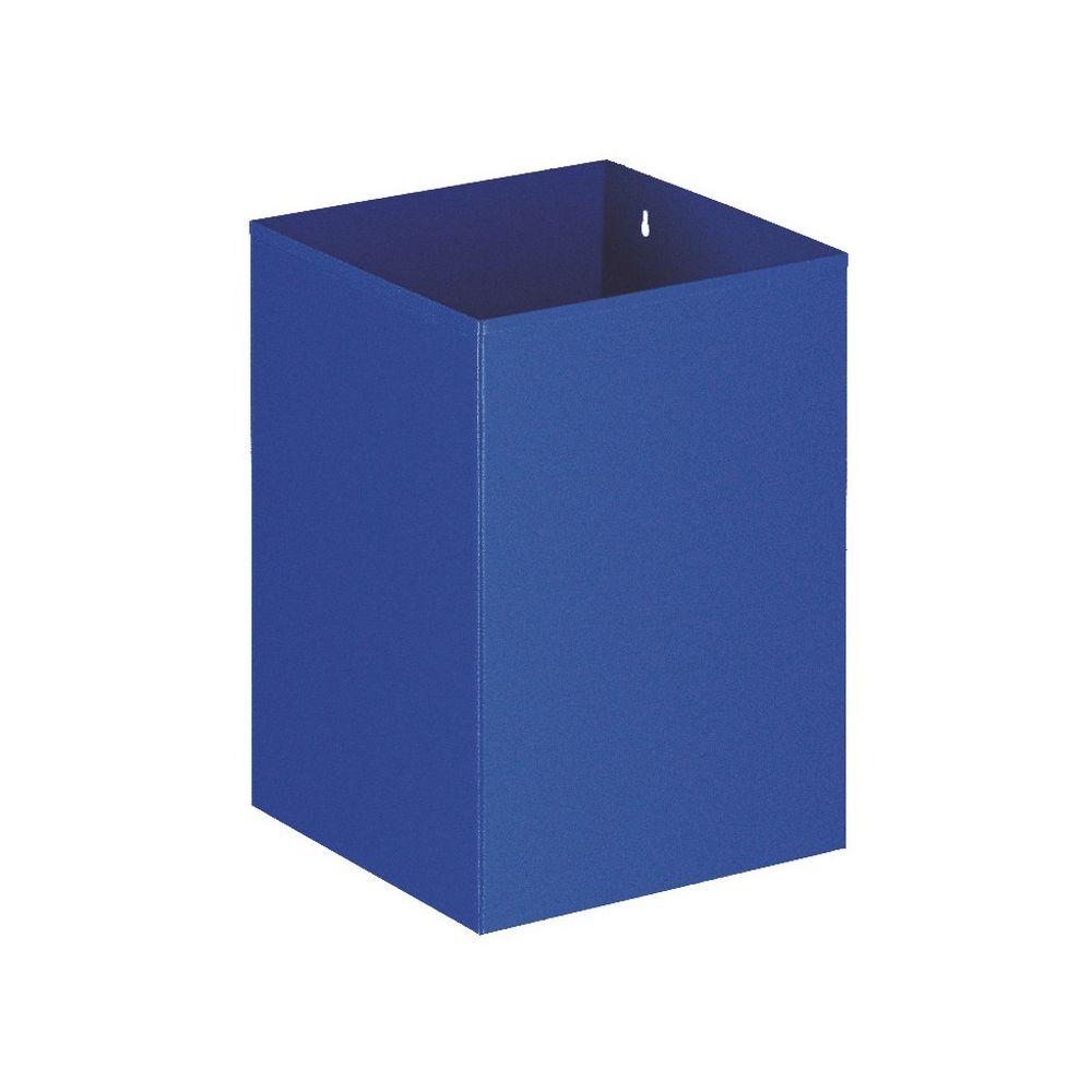 Vierkante papierbak - blauw
