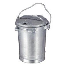 Staalverzinkte afvalbak 35 ltr - verzinkt