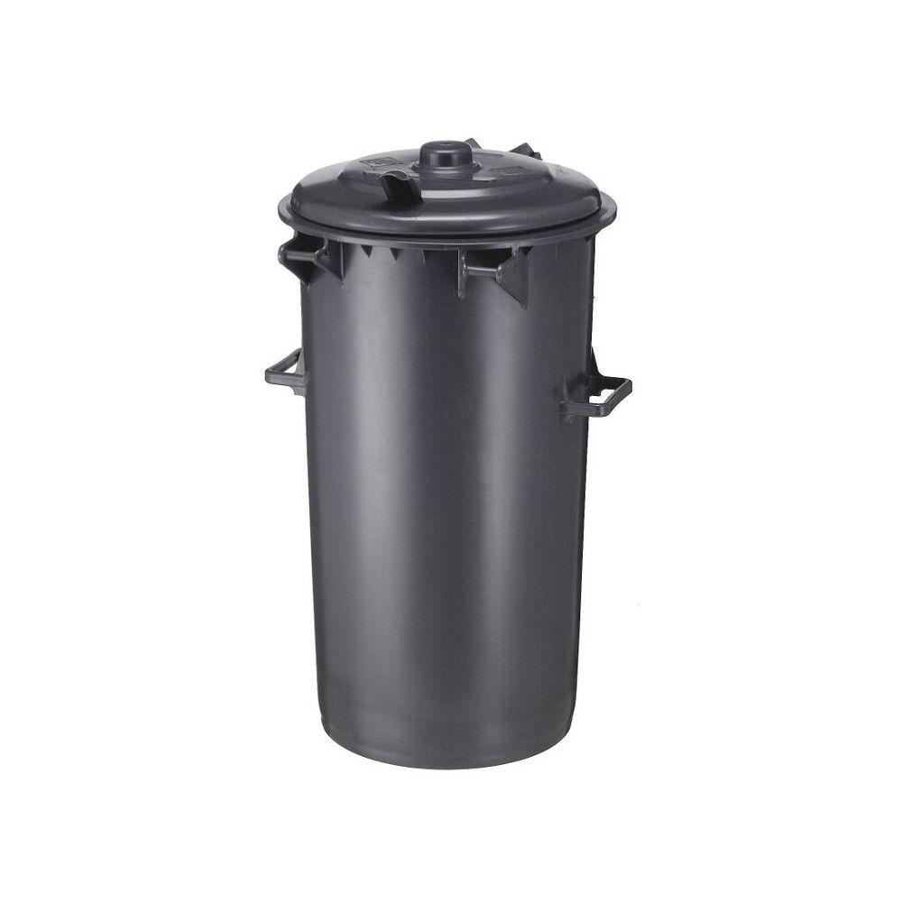 Kunststof afvalbak 110 ltr - donkergrijs