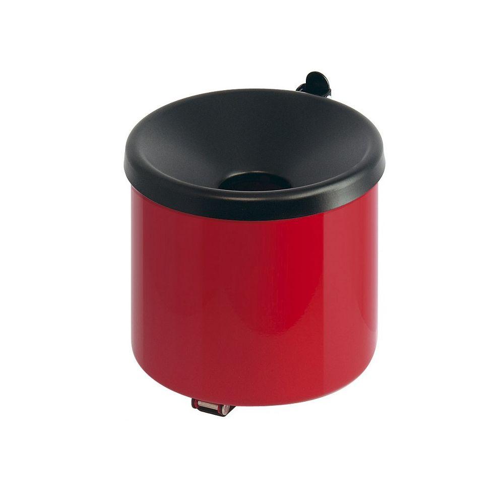 Vlamdovende wandasbak - rood/zwart