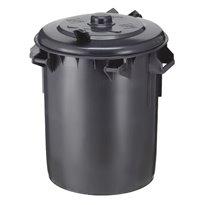 Kunststof afvalbak 70 ltr - donkergrijs