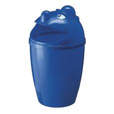Afvalbak met gezicht - blauw