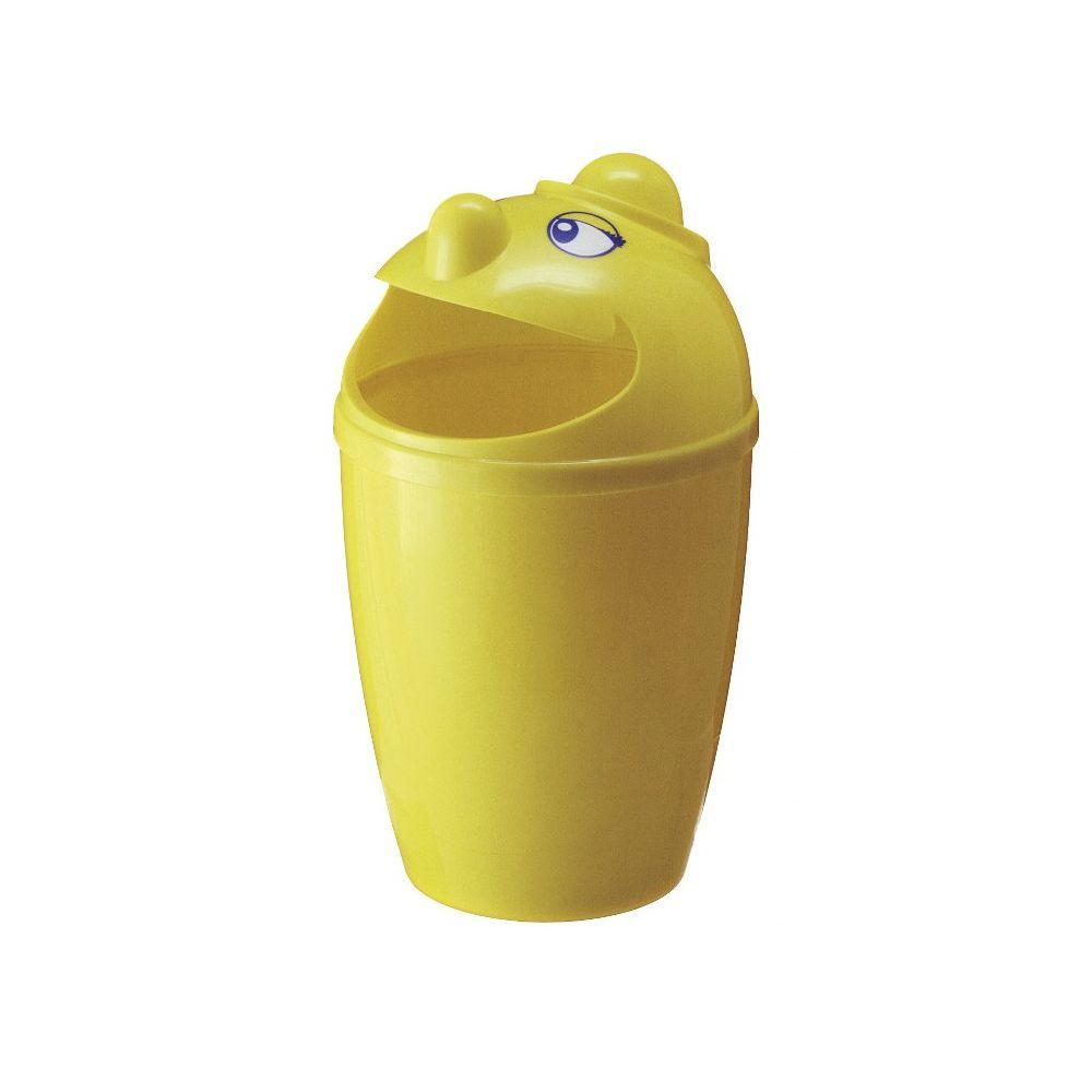 Afvalbak met gezicht - geel