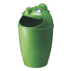 Afvalbak met gezicht - groen