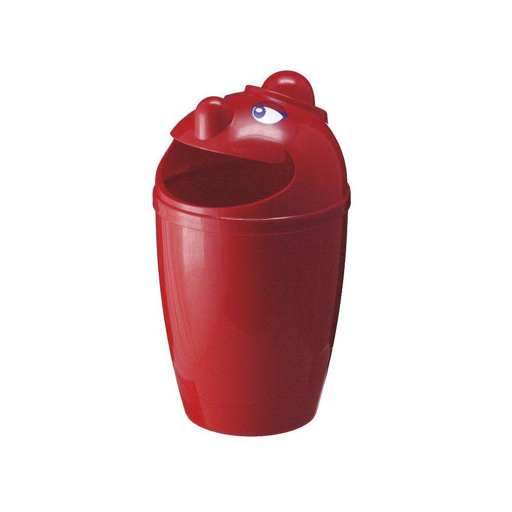 Afvalbak met gezicht - rood
