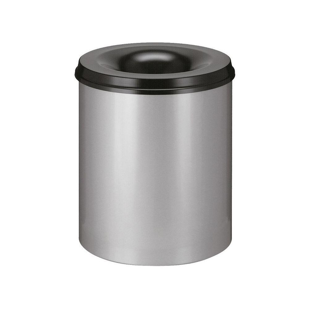 Vlamdovende papierbak 80 ltr - aluminiumgrijs/zwart