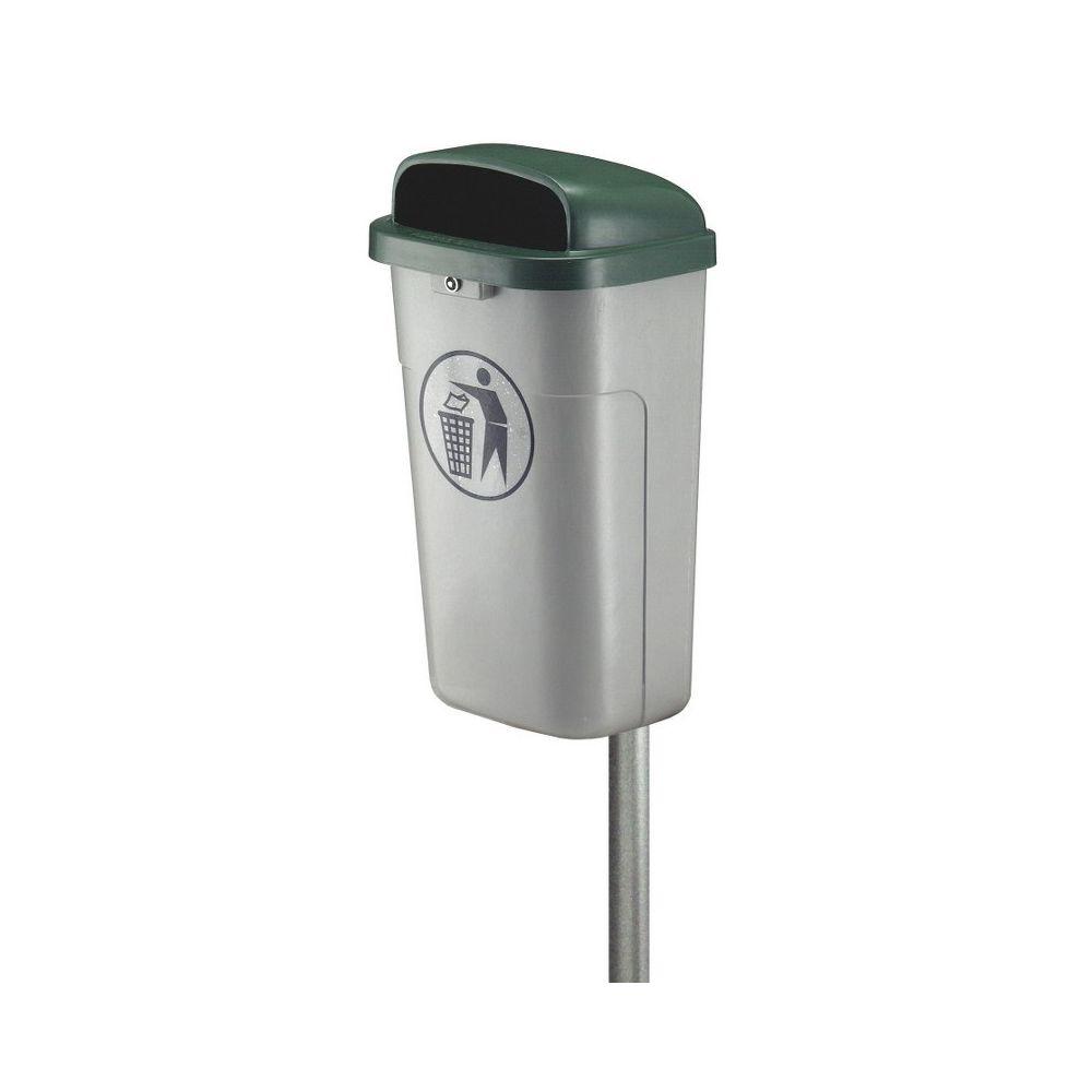 Vuurbestendige buitenafvalbak - grijs/groen