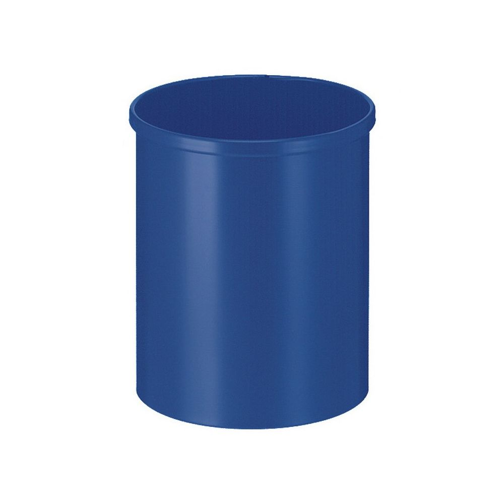 Ronde papierbak 15 ltr - blauw