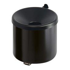 Vlamdovende wandasbak - zwart