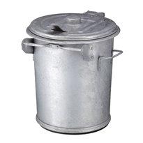 Staalverzinkte afvalbak 70 ltr - verzinkt