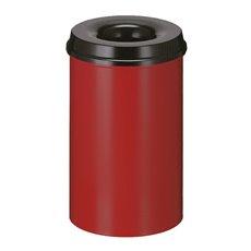 Vlamdovende papierbak 20 ltr - rood/ zwart
