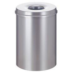 Vlamdovende papierbak 30 ltr - zilver