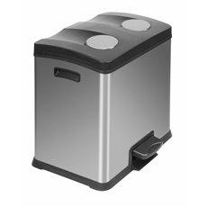 EKO Rejoice Recycling Bin 2x12 - mat RVS