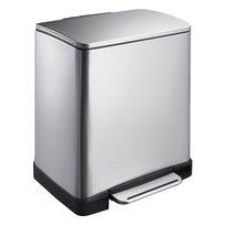 EKO Pedaalemmer E-Cube 20 ltr - mat RVS