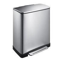 EKO Pedaalemmer E-Cube recycling 28+18 ltr - mat RVS