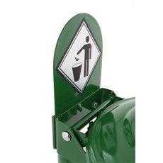 Stalen signaleringsplaat - groen