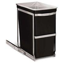 Simplehuman inbouw afvalbak Pull-out Bin - chroom/zwart