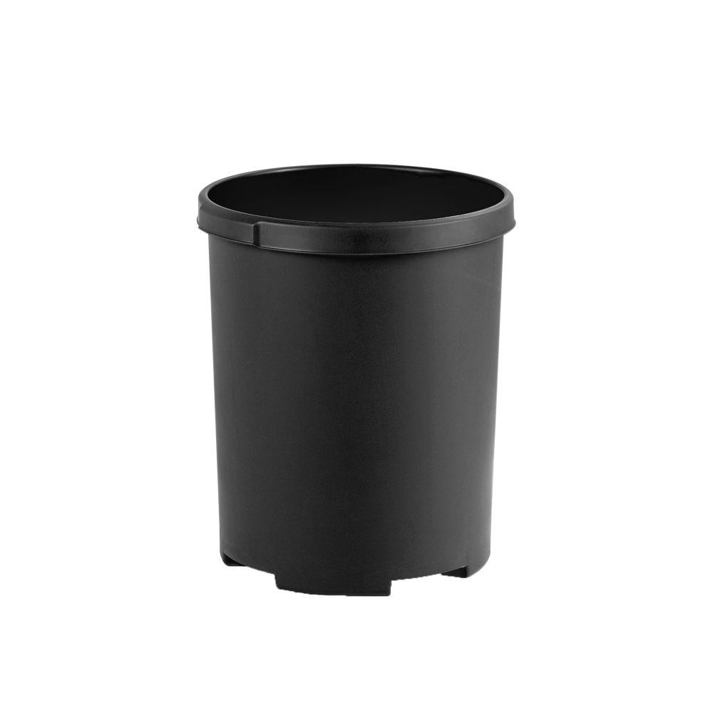 Ronde papierbak 50 ltr - zwart