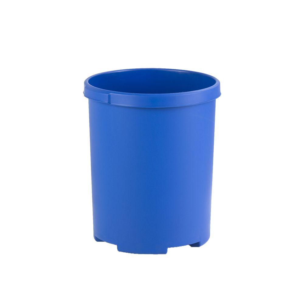 Ronde papierbak 50 ltr - blauw