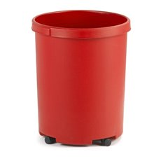 Ronde papierbak 50 ltr - rood