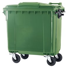 Container 770 ltr vlak deksel - groen