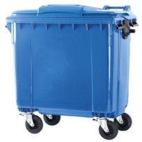Container 770 ltr vlak deksel - blauw
