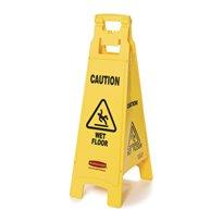 Rubbermaid Vierzijdig waarschuwingsbord - geel