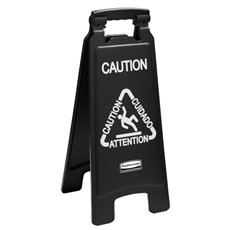 Rubbermaid Tweezijdig waarschuwingsbord - symbool Caution - zwart