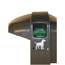 Afvalbak Cibeles 50 ltr met cassette voor hondenpoepzakjes - grijs