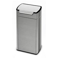 Simplehuman Rectangular Touch-Bar Bin 30 liter, Simplehuman - mat RVS