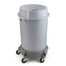 Kunststof afvalbak met open top, 90 ltr - grijs