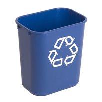 Rubbermaid Rechthoekige afvalbak 12,9 ltr - blauw, recyclingsymbool