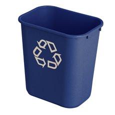 Rubbermaid Rechthoekige afvalbak 26,6 ltr - blauw, recyclingsymbool