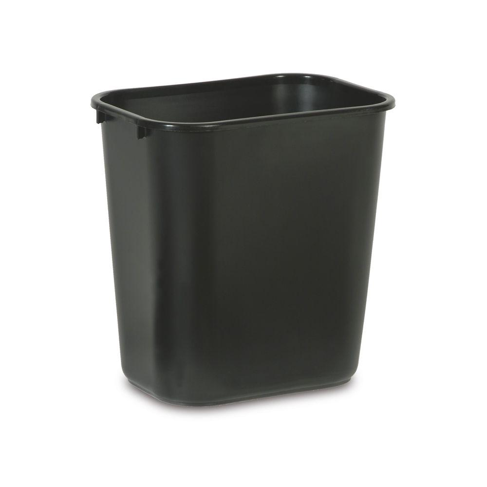 Rubbermaid Rechthoekige afvalbak 26,6 ltr - zwart