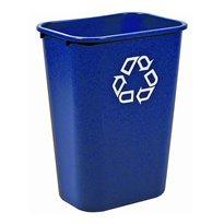 Rubbermaid Rechthoekige afvalbak 39 ltr - blauw, recyclingsymbool