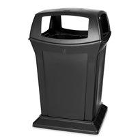 Rubbermaid Ranger container met 4 openingen - zwart
