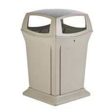 Rubbermaid Ranger container met 4 openingen - beige