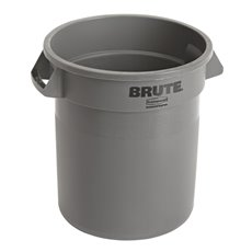 Rubbermaid Ronde Brute container 37,9 ltr - grijs