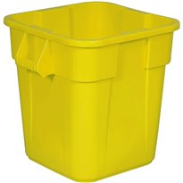 Rubbermaid Vierkante Brute container 106 ltr - geel
