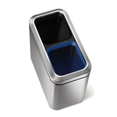 Simplehuman Slim Open Recycler - mat RVS
