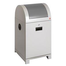 Hailo ProfiLine recycling afvalbak met binnenemmer 40 ltr - witaluminiu/ grijs